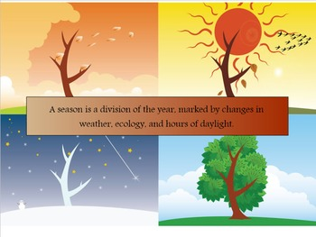 The Four Seasons (Notebook file for Smart Board)
