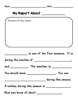 The Four Seasons - Differentiated Report Writing