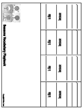 The Four Seasons Vocabulary Flapbooks (Includes 2 Different Printables!)