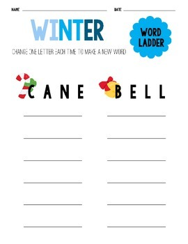 The Four Seasons Word Ladder Sheets