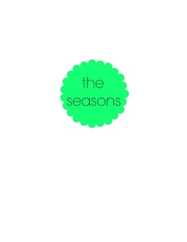 The Four Seasons Word Splash