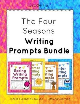 The Four Seasons Writing Prompts Bundle: Grades 1-2