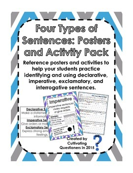 The Four Types of Sentences: Poster and Critical-Thinking Activity Pack