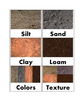 The Four Types of Soil Vocabulary Cards-To Reach the Needs of Every Learner