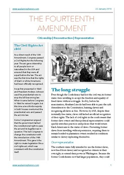 The Fourteenth Amendment Study Notes