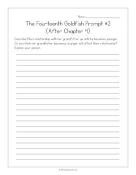 The Fourteenth Goldfish by Jennifer L. Holm:  15 Journal Prompts