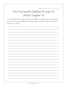 The Fourteenth Goldfish by Jennifer L. Holm:  15 Journal Prompts