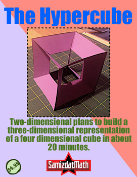 The Fourth Dimension: Hypercube, Tesseract Cut-Outs! Easy Peasy 4-D Models