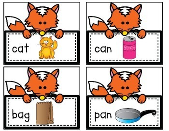 The Fox Says CVC Words! A Read & Write the Room Activity