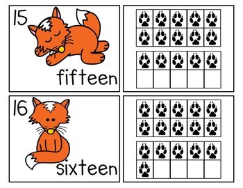 The Fox Says Ten Frames! Posters, Workstation Cards and Worksheets!