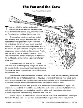 The Fox and the Crow: An Adapted Fable