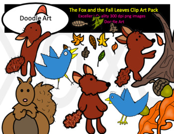 The Fox and the Fall Leaves Clip Art Pack