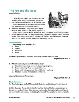 The Fox and the Goat - Literary Text Test Prep