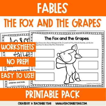 The Fox and the Grapes -Fable