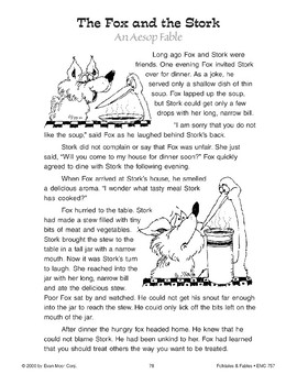 The Fox and the Stork (An Aesop Fable)