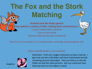 The Fox and the Stork Matching