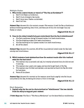 The Fox as Herdsman - Literary Text Test Prep