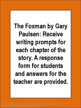 The Foxman by Gary Paulsen Novel Study