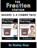 The Fraction Station {Grades 3-4 Combo Pack} BUNDLE