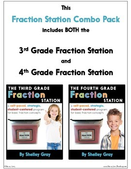 The Fraction Station {Grades 3-4 Combo Pack} BUNDLE