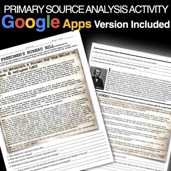 The Freedmen's Bureau Bill Primary Source Activity (Reconstruction)