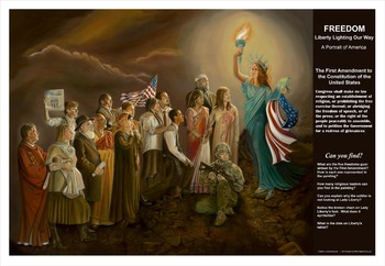 The Freedom Painting Lesson Plans for Diversity & First Amendment