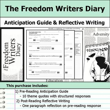 The Freedom Writers Diary - Anticipation Guide & Reflectio