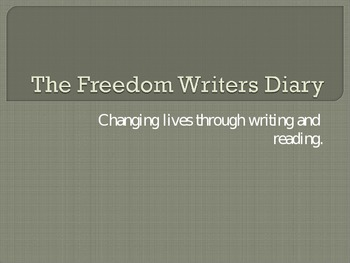 The Freedom Writer's Diary-Free Writing