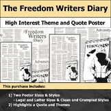 The Freedom Writers Diary - Visual Theme and Quote Poster for Bulletin Boards