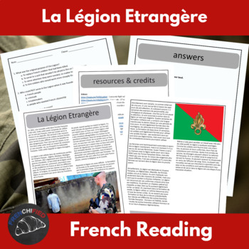 The French Foreign Legion - a reading for int/adv French learners