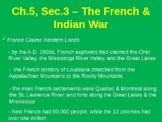 The French & Indian War (Seven Years War)