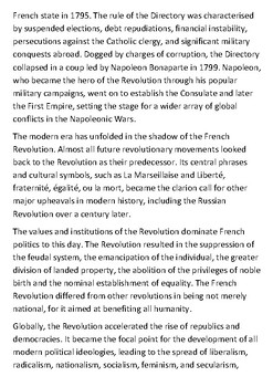 The French Revolution 1789 Handout with activities