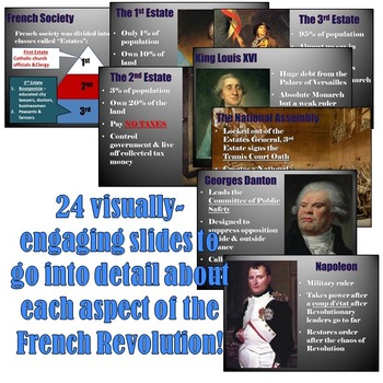 """French Revolution """"Magic Portrait"""" Lesson and Powerpoint"""