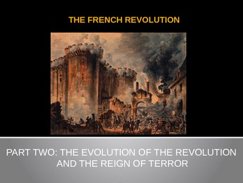 "The French Revolution - Part 2 - ""The Revolution and Reign of Terror"" PowerPoint"