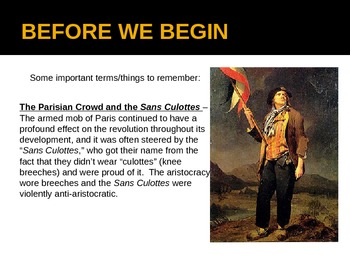 """The French Revolution - Part 2 - """"The Revolution and Reign of Terror"""" PowerPoint"""