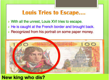 The French Revolution Powerpoint Slide with Questions