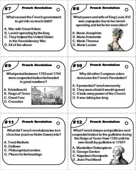 The French Revolution Task Cards