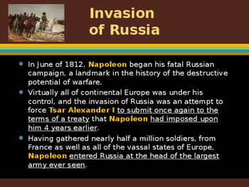 The French Revolution - The Invasion of Russia