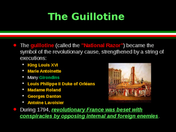 The French Revolution - The Reign of Terror