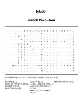 The French Revolution Word Search