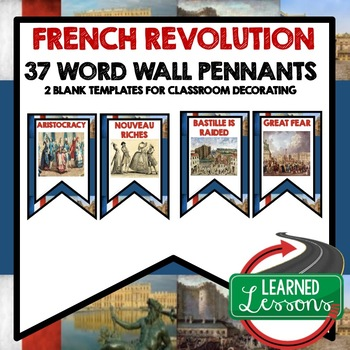 The French Revolution Word Wall Pennants