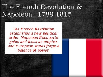 The French Revolution and Napoleon- Modern World History POWERPOINT