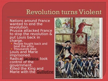 The French Revolution and Reign of Terror