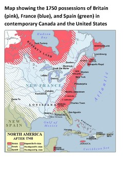 The French and Indian War (1754-63) Cloze Activity