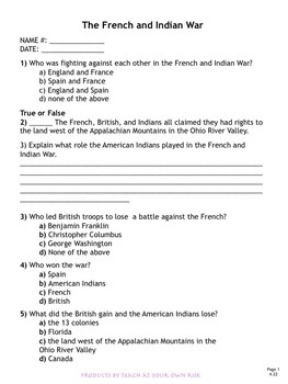 TN4.22 The French and Indian War