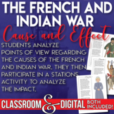 The French and Indian War Causes and Effects Stations Primary Source Analysis