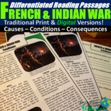 The French and Indian War Differentiated Reading Passages