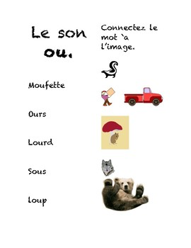 The French sounds ou, in and on