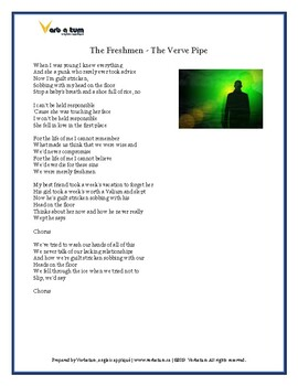The Freshmen - Verve Pipe : Song Analysis, Essay Questions, Discussion Questions