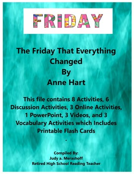 The Friday That Everything Changed by Anne Hart Short Story Teacher Resources